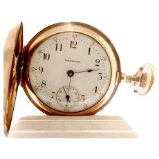 Beautiful Waltham Ladies Hunter's Case Pocket Watch, 7 Jewels, , Circa 1903 Can be worn as a pendant (WAT10235)