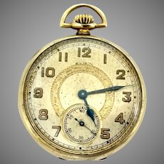 """An Elgin Pocket Watch Vintage Bargain 7j, 12s circa 1921 (WAT10239) """"Running, Accurate and Beautiful"""""""