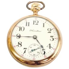 Hamilton 926 18s,17 jewels,Pocket Watch Lever Set, Yellow Gold Filled Circa 1904, Running and Accurate (WAT10255) on SALE thru Tuesday 12-03-19