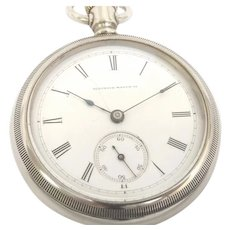 A Very Scarce Illinois Pocket Watch 18s, 11 jewels , Oresilver case, Transitional, Circa 1880 Running and Accurate (WAT10262)on SALE thru Tuesday 12-03-19