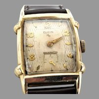 Collectible 1950s Elgin shockmaster 17 j ,Retro style  Wrist Watch, 10 karat RPG  Timed and Running(WAT10273) and Serviced on SALE Thru 12-03-2020