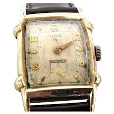 Collectible 1950s Elgin shockmaster 17 j ,Retro style  Wrist Watch, 10 karat RPG  Timed and Running(WAT10273) on SALE thru Monday, 11-19-19