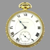 Very Rare Hamilton Pocket Watch 994 Railroad Grade 16s, 21j Circa 1913 open face Very highly esteemed for accuracy and quality (WAT10274)  Serviced, Running and Accurate