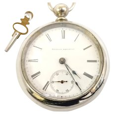 Antique Estate Illinois large 18s, 11 jewels,Pocket Watch Open Face, Circa 1883 Running, Accurate & Serviced (WAT10280) on SALE thru Tuesday 12-03-19