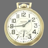 Vintage Waltham Vanguard Premier 16 size 23 Jewels Railroad Certified Circa 1941 (WAT10287)Running and Accurate Completely Serviced. on SALE thru 4/29/2021