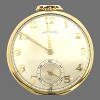 Vintage Hamilton 917 Pocket Watch Open Face, 10s, 17 Jewels Yellow Gold Filled Circa 1951(WAT10307) Running and Accurate