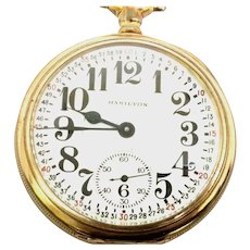 Rare Hamilton 996, Antique Pocket Watch, 19 jewel, 16s, Railroad Certified, 60 hour wind, Circa 1926(WAT10324) Running and Accurate