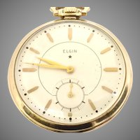 Vintage Elgin 495 Pocket Watch 17j, 12s, 10kt gold filled Circa 1933(WAT10325) Serviced, Running and Accurate