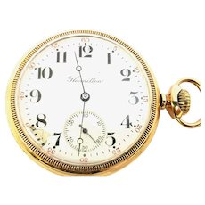Antique Hamilton 975 16s, 17 jewels, Open Face Pocket Watch Circa 1905(WAT10334) A Collector Special, Scarce 975, Running and Accurate