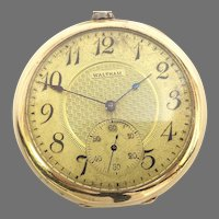 Antique Estate Waltham Riverside Pocket Watch 19 jewels, 12s, Yellow Gold Filled, Circa 1910(WAT10351) Serviced, Accurate and Running on SALE thru 4/29/2021