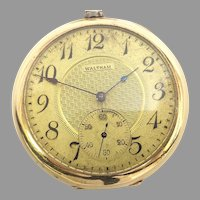 Antique Estate Waltham Riverside Pocket Watch 19 jewels, 12s, Yellow Gold Filled, Circa 1910(WAT10351) Serviced, Accurate and Running