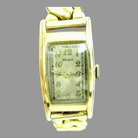 Vintage Gruen Curvex Swiss made 7 jewels 10kt gold filled Case Circa 1936(WAT10353) Serviced, Running and Accurate on SALE thru 2/19/2021