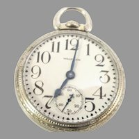 Vintage Waltham Crescent St. Pocket Watch, 16s, 21 jewels Railroad Grade Circa 1926(WAT10369) Running and Accurate