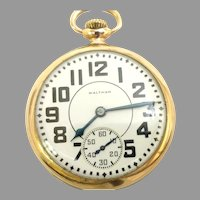 Vintage Waltham Crescent, 17 j, 16s, 10kt gold Filled, circa 1940(WAT10370) Serviced, Running and Accurate