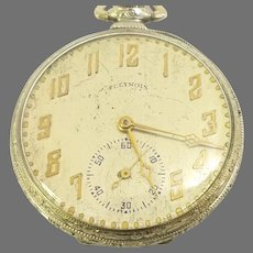 Collector Reward Illinois Autocrat Pocket Watch with Original Box, 12s, 17 jewels, 14kt white gold filled Circa 1923(WAT10376) Accurate, Running and Serviced