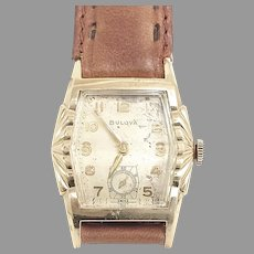 Vintage Bulova L5, 17 jewels, Art Deco Wrist Watch Circa 1955 (WAT10387)Serviced and Running Accurately on SALE Great vintage