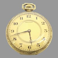 Antique Waltham Open Face Pocket Watch 12s 15 jewels Circa 1897(WAT10388) Running and Accurate  on SALE Great Piece