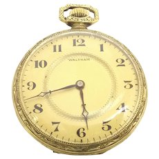 Antique Waltham Open Face Pocket Watch 12s 15 jewels Circa 1897(WAT10388) Running and Accurate