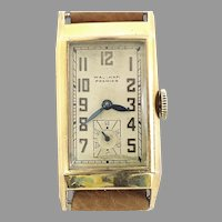 Waltham Premier 21 Jewels Curvex Style Wrist Watch, Authentic Vintage Circa 1938 (WAT10392) Running and Accurate on SALE Thru 12-03-2020