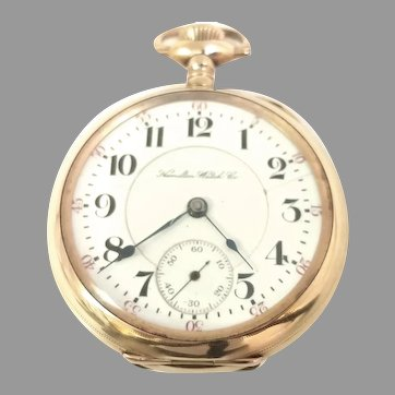 Antique Scarce Hamilton 940, 18s, 21 Jewel Gold Filled Railroad Grade Pocket Watch Circa 1904(WAT10395) Running and Accurate