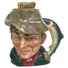 Royal Doulton The Poacher toby mug with lighter.
