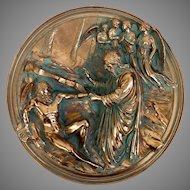 """Beautiful Vintage """"La Creazione di Adamo"""" Studio Dante di Volteradici Collectors Plate (OTH10241)"""