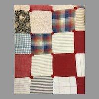 Gorgeous  Vintage German-American Handmade Quilt Circa 1920-1930 (OTH10281)