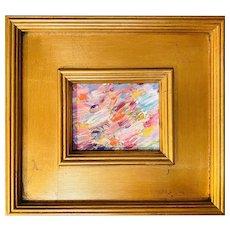 """Abstract Impasto Colors II"", Original Oil Painting by artist Sarah Kadlic, 10""x11"""