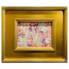 """Abstract Impasto Landscape"", Original Oil Painting by artist Sarah Kadlic."