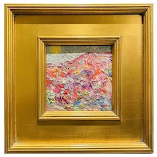 """Abstract Impasto Mountain Landscape"", Original Oil Painting by artist Sarah Kadlic."