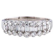 Stunning 14K Gold WG 1.50 cttw G VS Brilliant Baguette Diamond Wedding/Engagement Ring Anniversary Band