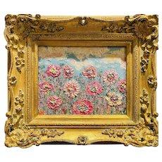 """Abstract Wildflowers Floral"", Original Oil Painting by artist Sarah Kadlic."