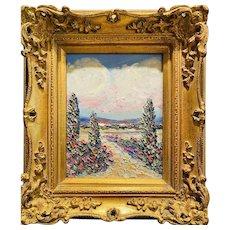 """Abstract Impasto Seascape"", Original Oil Painting by artist Sarah Kadlic."