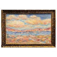 """Impressionist Impasto Seascape"", Original Oil Painting by artist Sarah Kadlic."