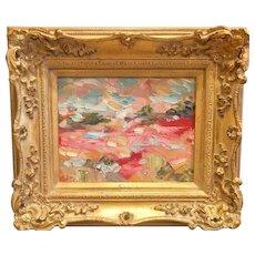 """Abstract Tuscany Italy Landscape"", Original Oil Painting by artist Sarah Kadlic."