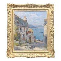 19th C. Impressionist Well LISTED Artist Alfred Fontville De Breanski Jr. (British, 1877 -1957) Original Oil Painting