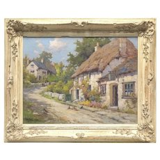 19th C. Impressionist Well LISTED Artist Alfred Fontville De Breanski Jr. (British, 1877 -1957) Original Oil Painting on Canvas