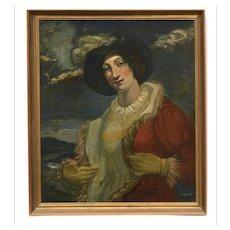 Gentleman Portrait Original Oil Painting, unsigned, Belgian School (19th/20th century)