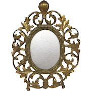 Beautiful Large Bradley & Hubbard Antique Circular 1900s Picture Frame Solid Bronze/Brass