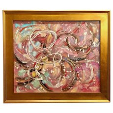 """""""Abstract Expressionist Melodies"""", Original Oil Painting by artist Sarah Kadlic."""