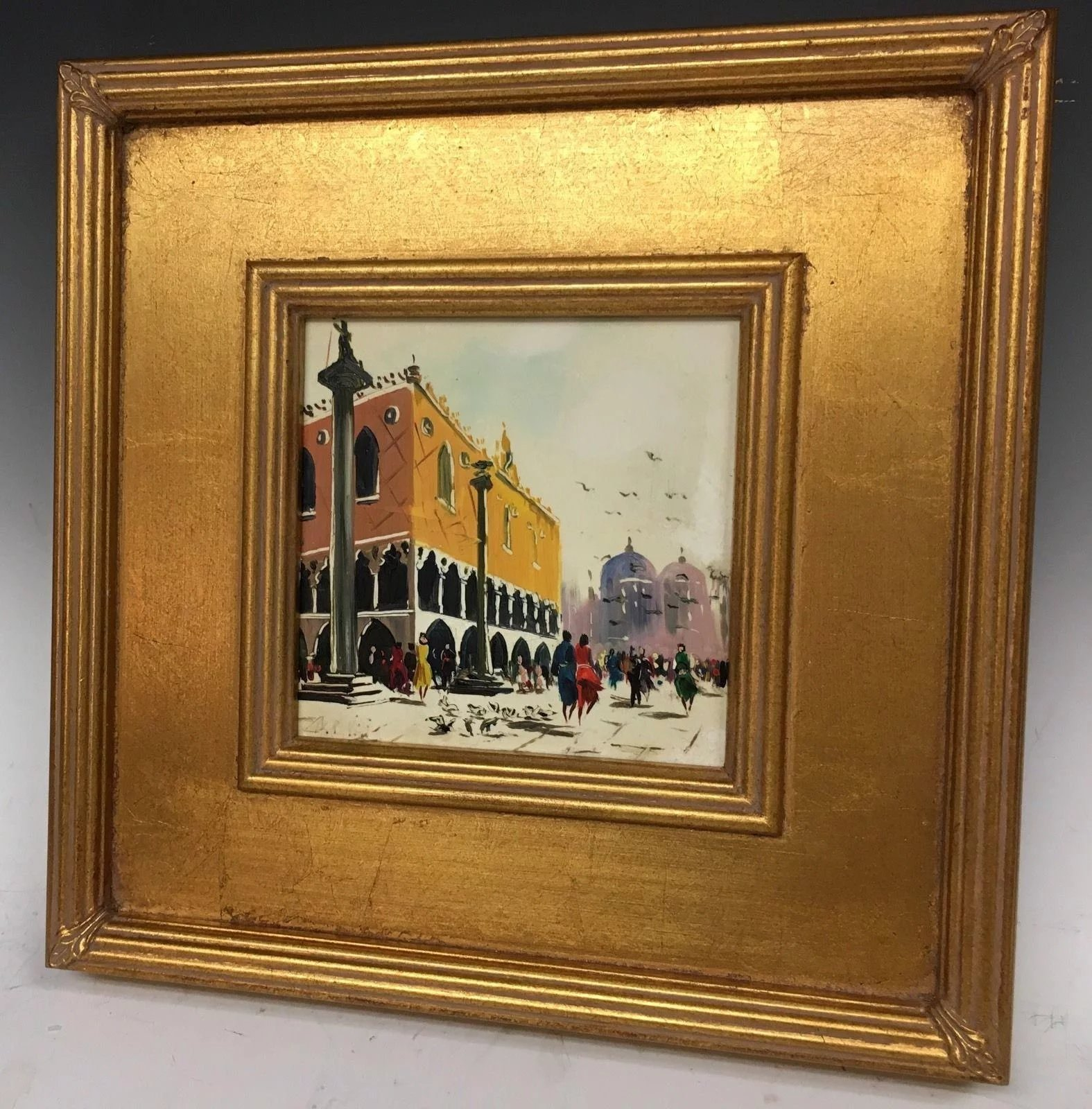 Vintage Retro Mid Century Antonio Devity Original Oil