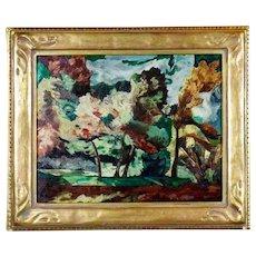 Stunning Abstract Fauve Style Original Oil Painting, 1950-1970 Retro Mid Century.