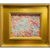 """Abstract Expressionist Impasto Palette"", Original Oil Painting by artist Sarah Kadlic, 15"" Gilt Leaf Wood Frame"