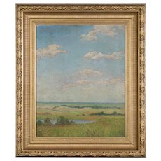 Helen Isabel Howell Listed Artist (American, Cleveland School,  1882-1972) Oil Painting on Canvas Gilt Leaf Frame
