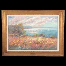 Stunning Highly Collectible French Impressionist Original Oil Painting by Listed Artist Isabelle De Ganay, (Rouen School, b. 1960)