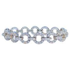 Vintage Estate Jabel 18k Gold 5.0 Carat F VS Diamond Bracelet