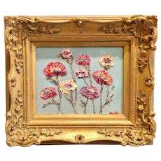 """Abstract Summer Wildflowers"", Original Oil Painting by artist Sarah Kadlic, Original Oil Painting 10"""
