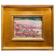 """Abstract Tuscany Landscape "", Original Oil Painting by artist Sarah Kadlic."