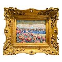 """Abstract Seascape Impasto Floral"", Original Oil Painting by artist Sarah Kadlic."