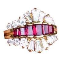 Stunning Kurt Wayne Designer 18K Gold 2.19ct Ruby VS Diamond Cocktail Ring